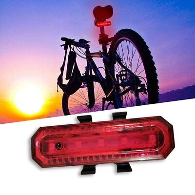 4 Modes LED Bicycle Cycling Rear Tail Night Light USB Rechargeable Red Lamp H1A8