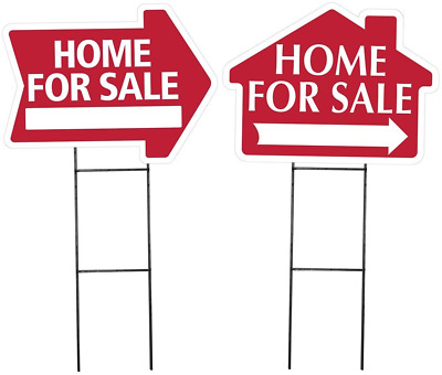 Large -Arrow and House shaped- Home for Sale Sign Kit Combination