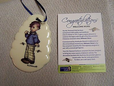 """Hummel Limited Edition Christmas Ornament """"Welcome Home"""" 2014"""