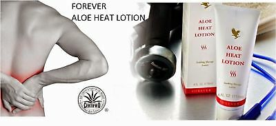 Forever Living Aloe HEAT LOTION (4 oz ea) for Soothing Massage