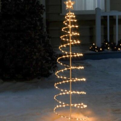 Outdoor Lighted 6 Foot Spiral Christmas Tree Sculpture Yard Decoration 4  Colors - CHRISTMAS OUTDOOR LIGHTED Spiral Trees Clear Light Holiday