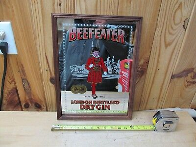 Beefeater London Distilled Dry Gin – Advertising Bar Mirror Sign