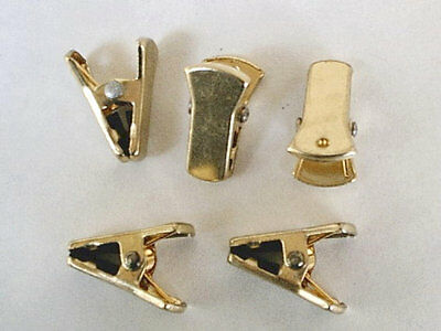 Gold Plated Sweater Clips - Guards