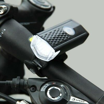 USB Rechargeable Bike Front Light LED Bicycle Cycling Headlight C9H8