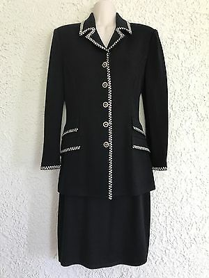 St. John Collection By Marie Gray Skirt Black Suit Size 2 Santana Knit