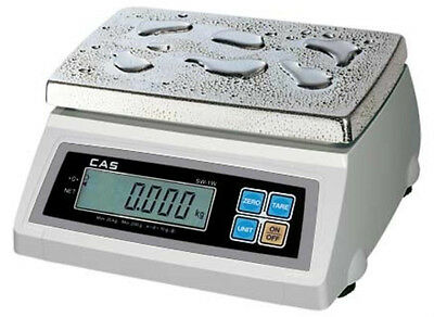 CAS SW-10W Washdown Portion Control Scale 10LBX0.005 LB,NTEP,Legal For Trade