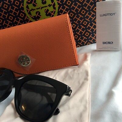 9acf44fe39b0 TORY BURCH SUNGLASSES Ty 7072 1335/4S Large Round Glam Lite Blue New ...