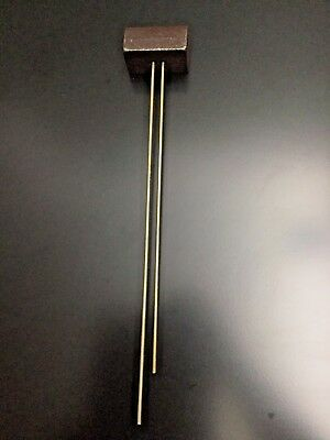Vintage Mantel Clock Chime Bar Gong w/Brass Rods  Parts