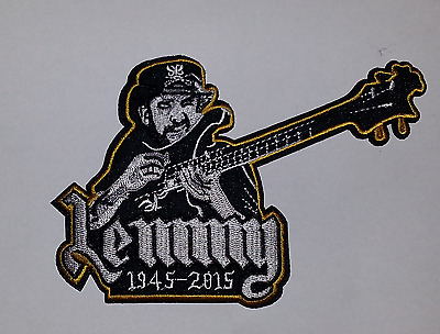 Lemmy Kilmister Motorhead / Motörhead Guitar embroidered iron on/sew on Patch