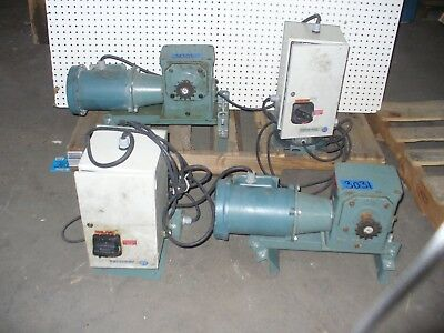 Reliance Hytrol 5-2000 Conveyor Drive Motor with Gearbox and On/Off Power Box