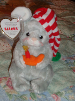 Ty Beanie Baby Mouse - Flicker Bbom 2005 - W/protected Tag In Excellent Conditio
