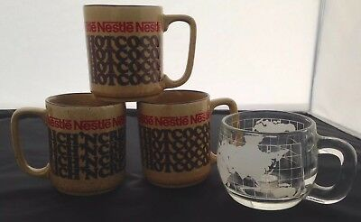 Lot Of 4 Nestle Coffee Cups