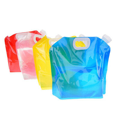1pc 5l foldable collapsible drinking water bag car water carrier container WRDE