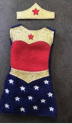 elf on the shelf clothes- Wonder Woman 12 inch doll clothes