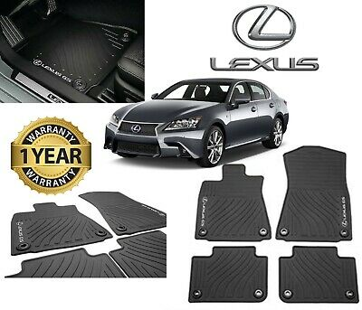 Lexus GS350 GS450H GS300 (2013-2018)(RWD) 4pc OEM Genuine ALL WEATHER FLOOR MATS