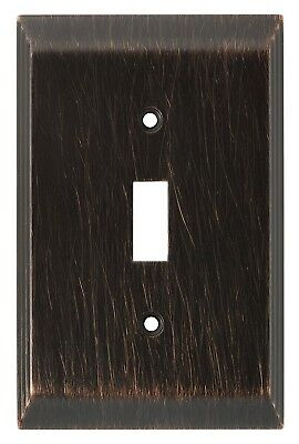 Brainerd (126408) Single Switch Wall Plate, Venetian Bronze (Lot of 4)