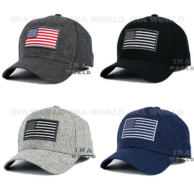 USA American Flag hat Stars and Stripes Embroidered Snapback Baseball cap