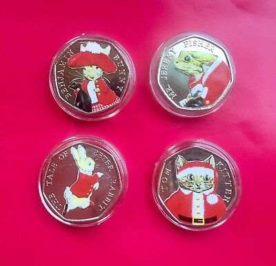 Beatrix potter 50p Uncirculted Coin set Christmas Collection 2017