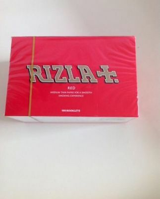 100x Red Rizla Regular Cigarette Rolling Papers 100% Genuine Rizzla Booklets New