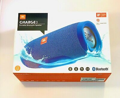 JBL CHARGE 3 Blue Portable Bluetooth Speaker System Great Sound!!
