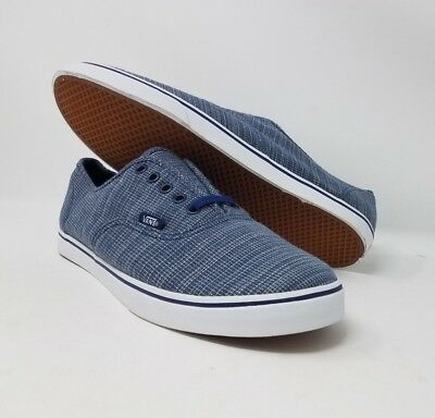 505a8060ae Vans Authentic Lo Pro Woven Chambray Blue Skate Casual Men s Size 8.5 New  Wob