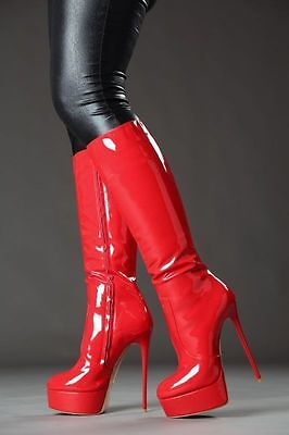 6655e2d94185 Giaro galana 1003 shoes red knee high boots 6