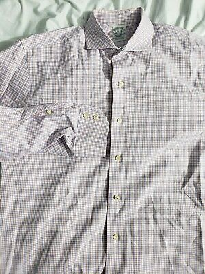 Brooks Brothers Makers multi Color checks Made in USA Regent Fit 16-4