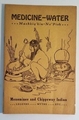 Indian Book Medicine Water. 1933 First Edition