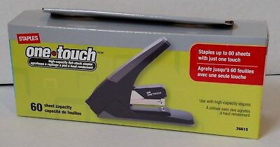 Staples One-Touch High-Capacity Flat-Stack Stapler, 60 Sheet Capacity ( 26615 )