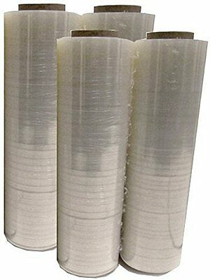 "4 Roll Clear Hand Pallet Shrink Wrap Plastic Stretch Film 18""x1500' Gauge"