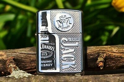 Zippo Lighter - Jack Daniels Tennessee Whiskey - Limited Edition Armor - # 24175