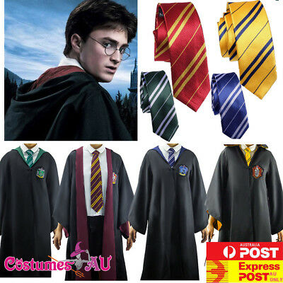 Kids Harry Potter Robe + Tie Costume Child Book Week Girls Boys Teen Outfits