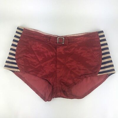 Wilson Basketball Shorts Mens 36 Red Satin Padded 1950s Antique