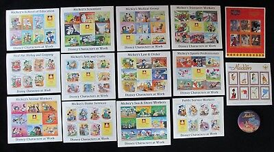 Mickey's Disney Characters at Work Stamps Guyana St Vincent & the Grenadines Lot