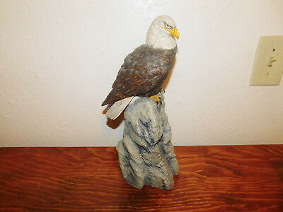 Franklin Mint Ever Watchful American Bald Eagle International Wild Porcelain