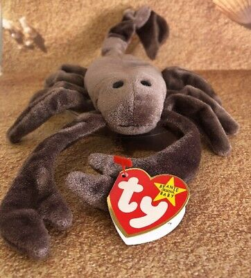 TY Original Beanie Babies 1997 Stinger The Scorpion 5th Generation Swing Tag