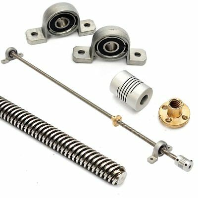 T8 8mm 500mm Lead Screw Rod with Nut Pillow Block Mounted CNC Set For 3D Pr T2X5