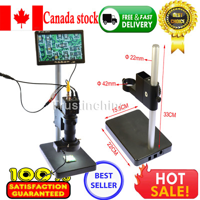 "100X BNC AV TV Digital Industrial Microscope Camera SET C-Mount Lens +7"" Monitor"