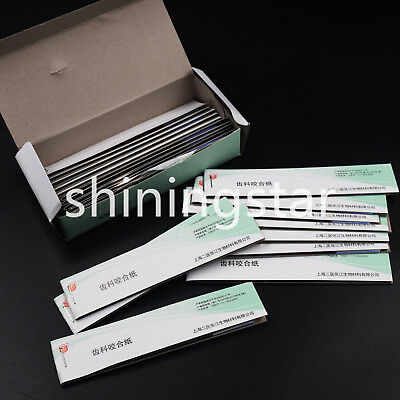 1 Box Dental Tool Practical Articulating Paper Soft Thin Strips 200 sheets Blue