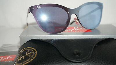 f2dff9d148 RAY BAN New BLAZE CAT EYE Sunglasses Bronze Violet Mirror RB3580N 90391U 43  140