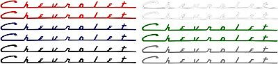 chevy small block valve cover decals 1 left and 1 right 283 327 305 350