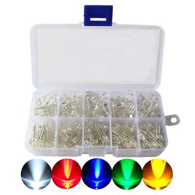 LED Diode Kit,3mm 5mm LED Lights Emitting Diodes Assorted Clear Bulbs with D1E5