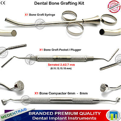 Premier Dental Bone Graft Packer Grafting Syringe Bone Compactor Plugger Implant