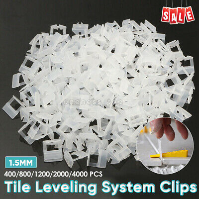 400 - 4000x Tile Leveling System Clips Levelling Spacer Tiling Tool Floor Wall