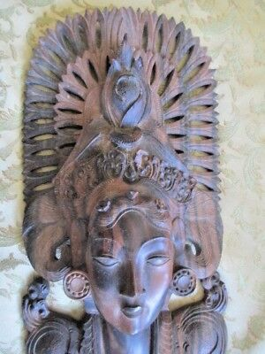 Zebra Wooden Wall Hanging of a Lady -  Intricately Carved