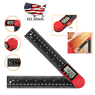 Level Box Protractor Digital Inclinometer 0-360° Angle Finder Bevel Magnet Gauge