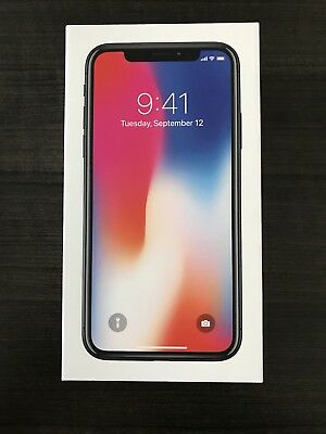 iPhone X, Space Grey 64GB Empty Phone Box Only with all Brand New Accessories