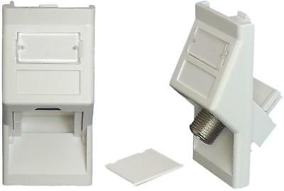 Angled Keystone Adaptor 25X50Mm White - Ka45Whep