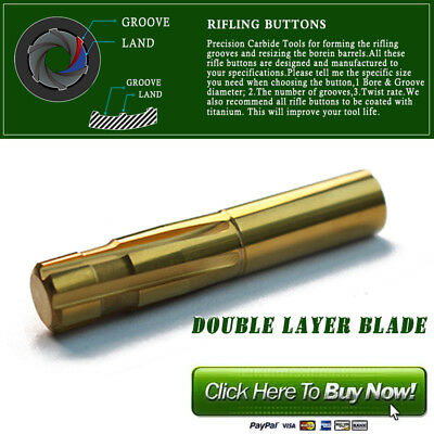 Precision Push Rifling Buttons Double Layer Blade Reamer  Make a Rifled Barrel