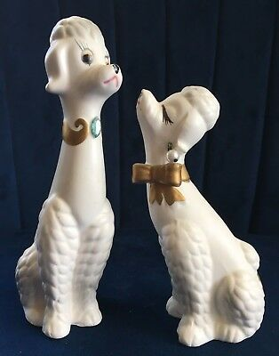 Vintage Napco Poodle Couple Set.